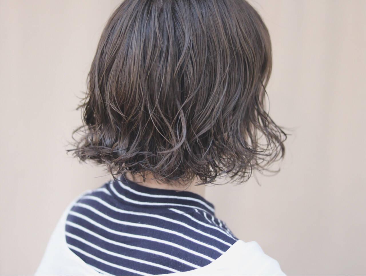 ボブ オルチャン デート イルミナカラーヘアスタイルや髪型の写真・画像