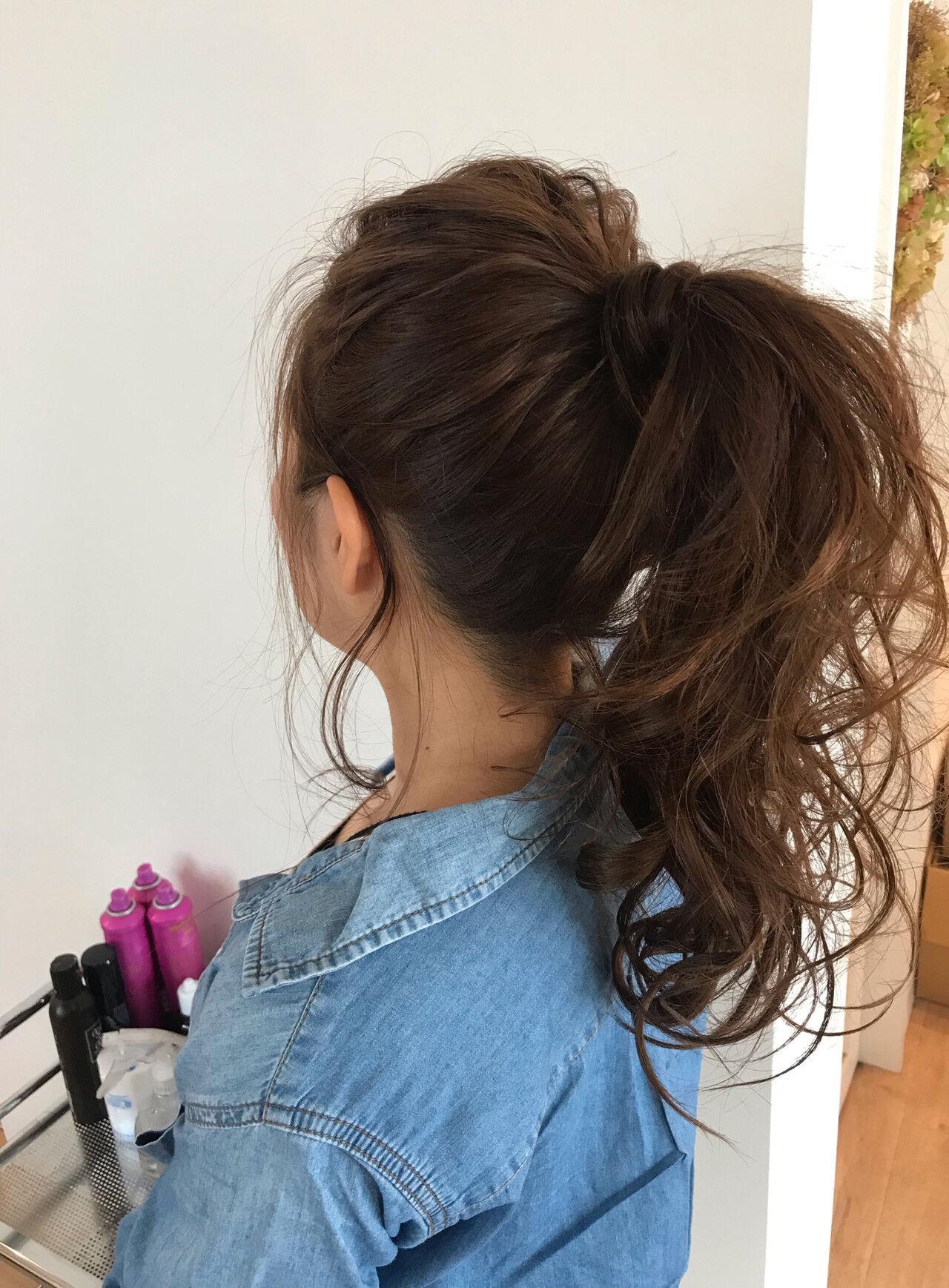 ナチュラル 簡単ヘアアレンジ アウトドア デートヘアスタイルや髪型の写真・画像