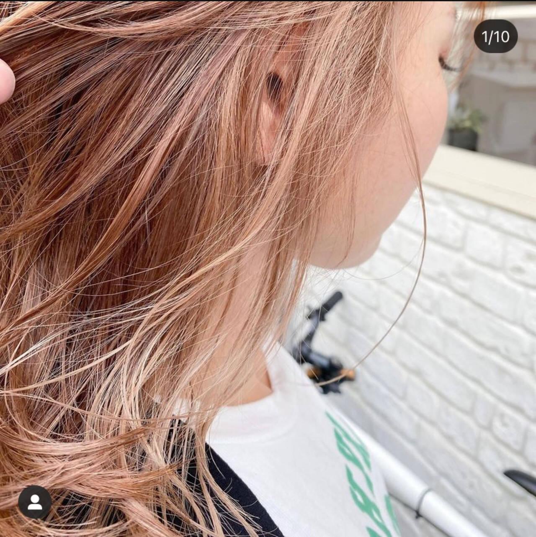 ミルクティー ミルクティーグレージュ ミルクティーアッシュ セミロングヘアスタイルや髪型の写真・画像