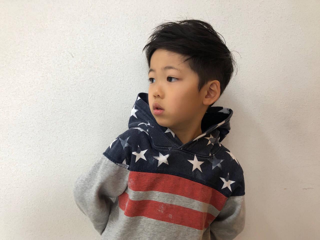 キッズカット ショート メンズカット 子供ヘアスタイルや髪型の写真・画像