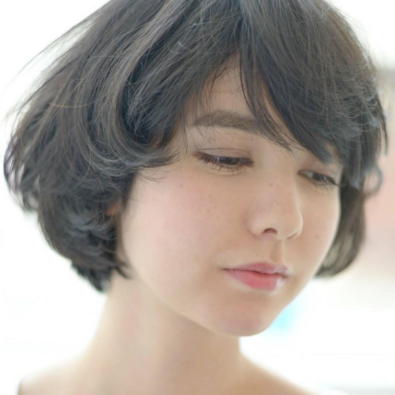 ナチュラル 簡単 フェミニン ボブヘアスタイルや髪型の写真・画像