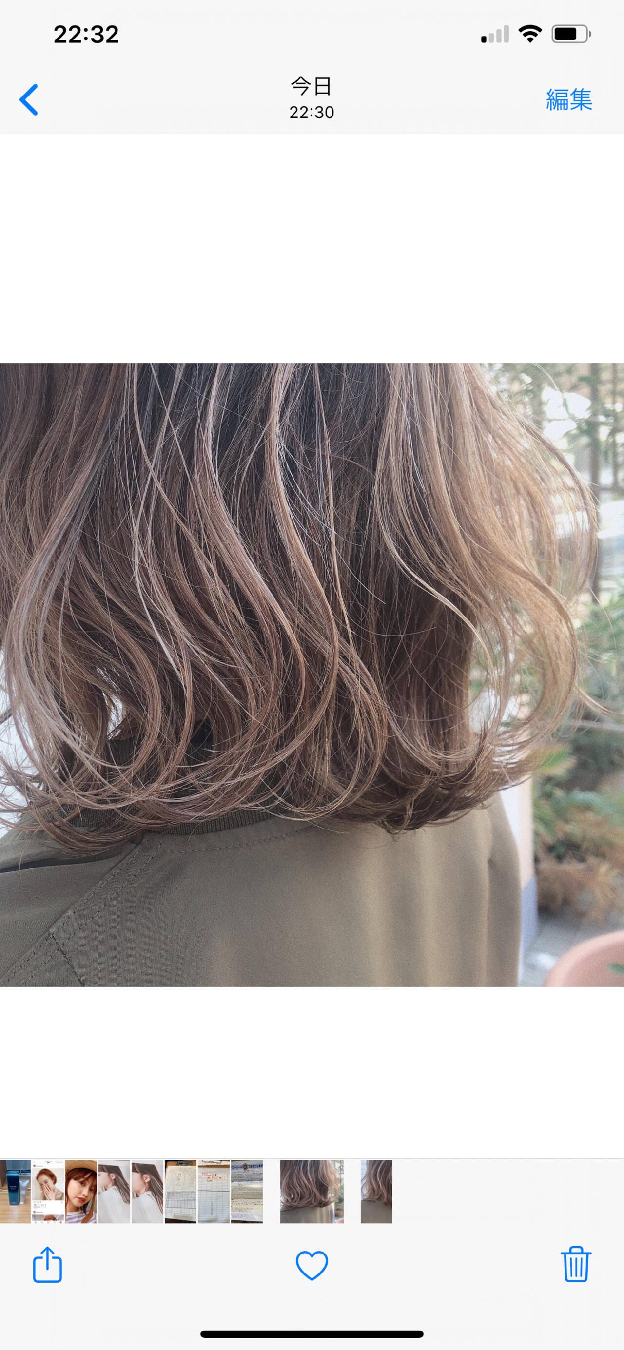 ヌーディベージュ 透明感カラー 透明感 ミルクティーベージュヘアスタイルや髪型の写真・画像