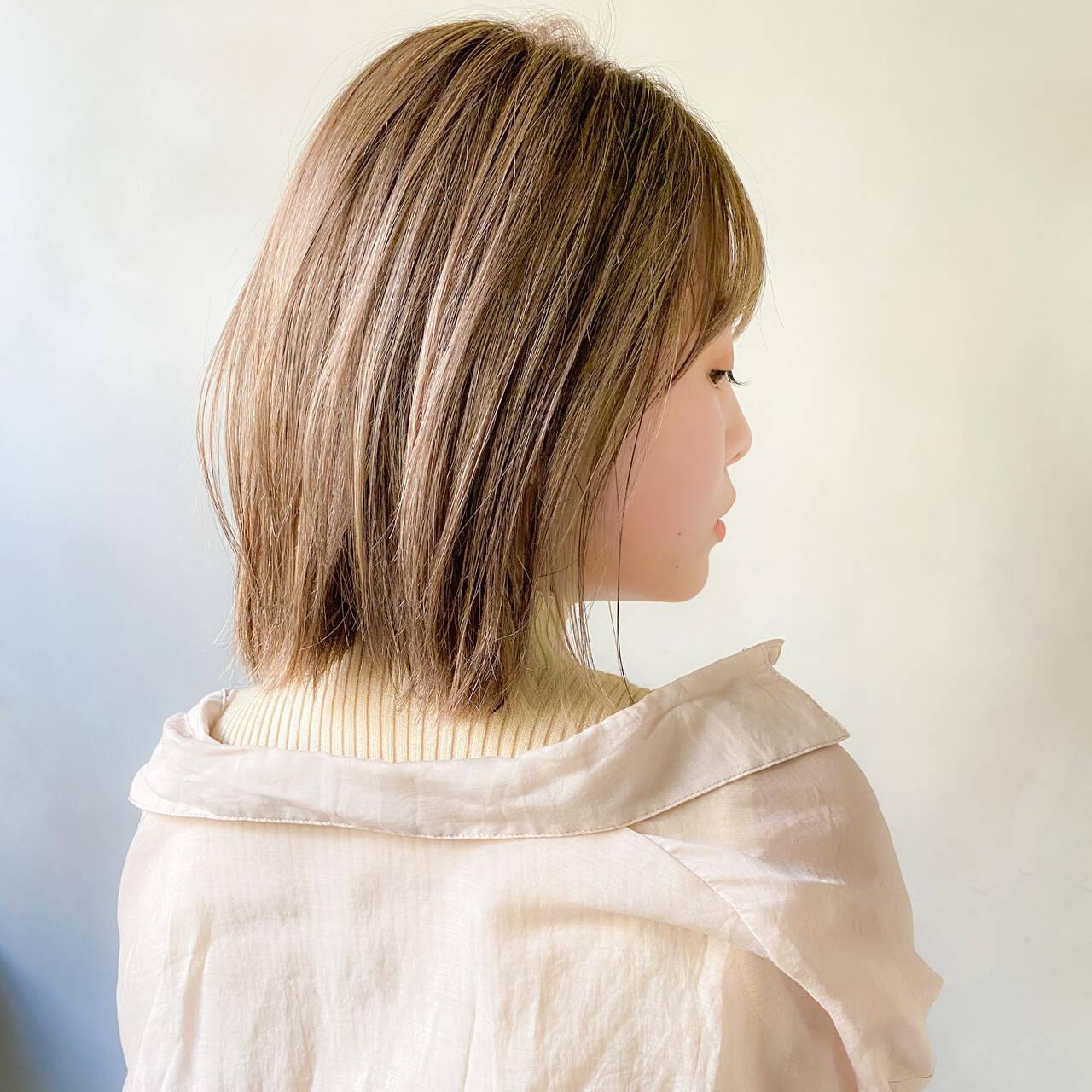 デート 大人かわいい ヘアアレンジ ボブヘアスタイルや髪型の写真・画像
