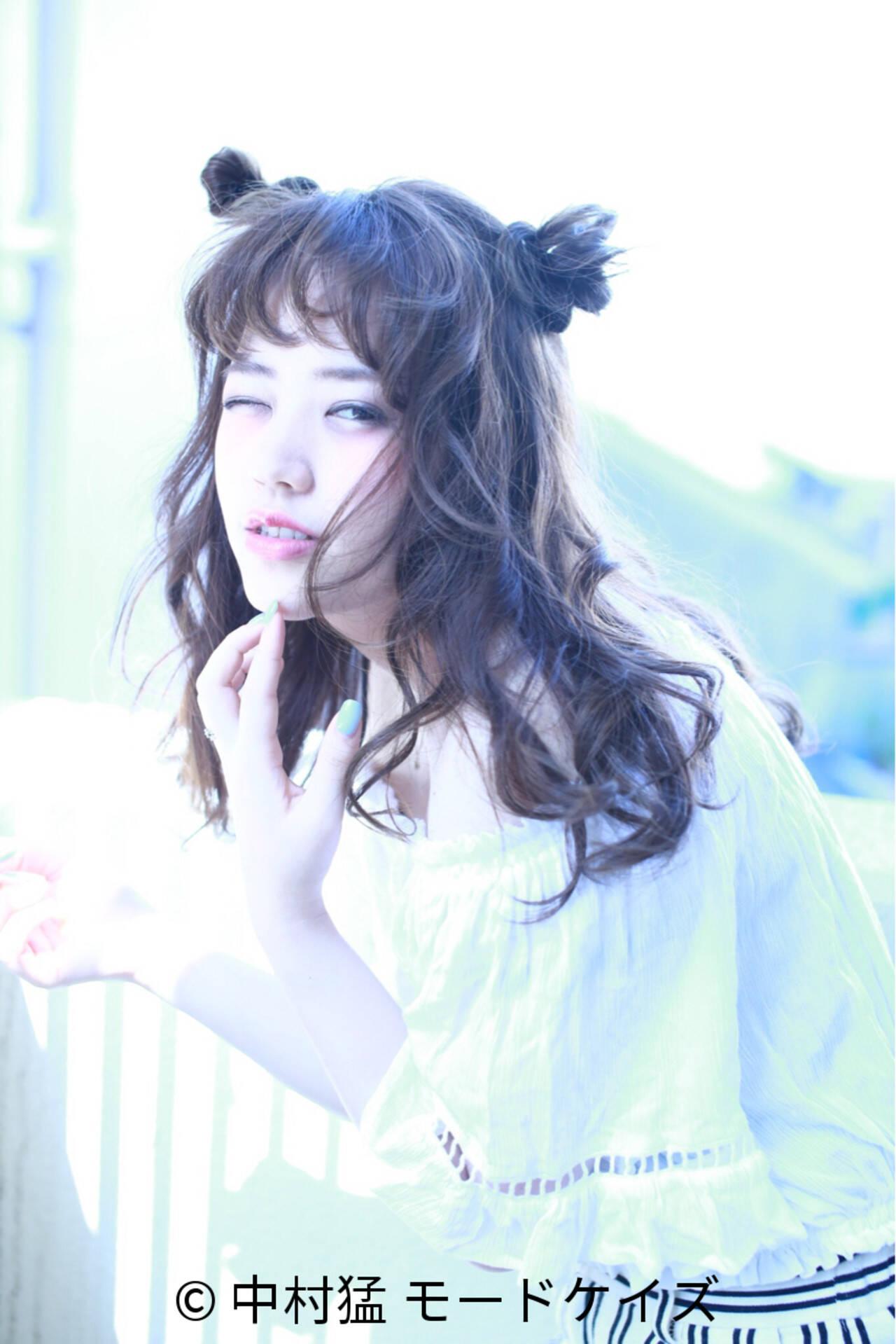 時短 ショート くせ毛風 ガーリーヘアスタイルや髪型の写真・画像