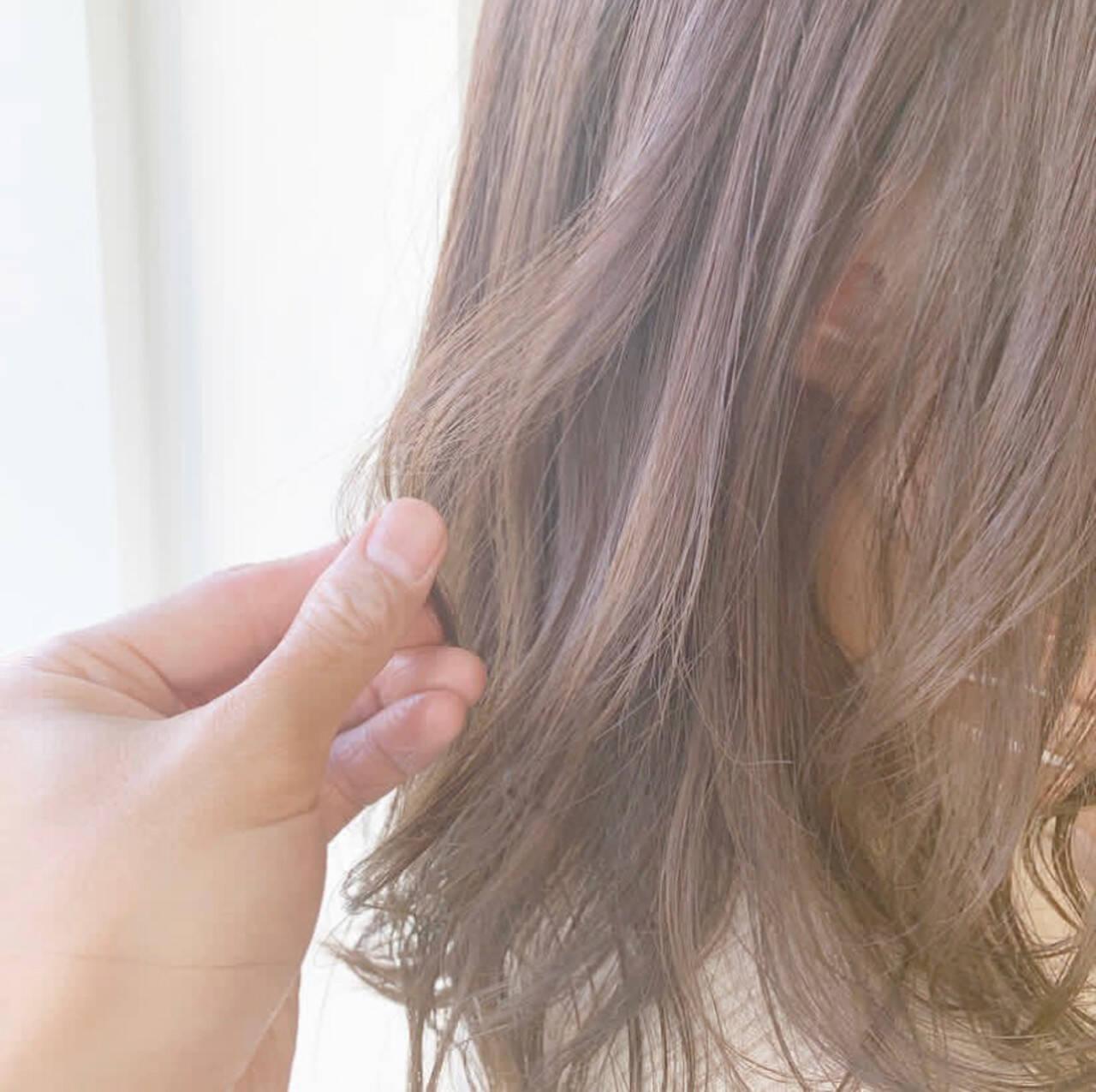 ナチュラル  セミロング モテ髪ヘアスタイルや髪型の写真・画像