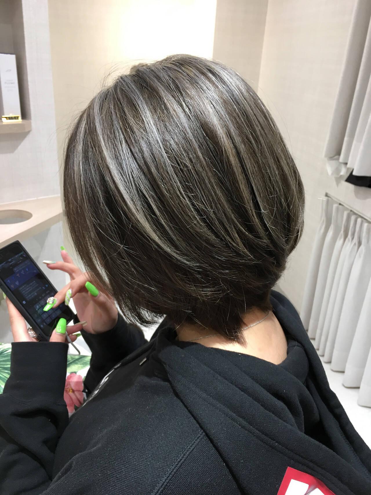 ブリーチ 外国人風カラー アッシュ 美髪ヘアスタイルや髪型の写真・画像