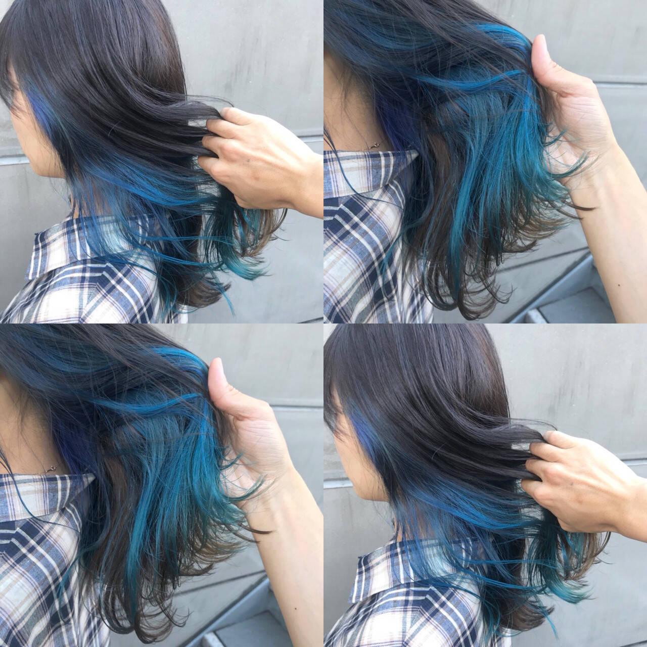 インナーカラー グラデーションカラー 外国人風 透明感ヘアスタイルや髪型の写真・画像