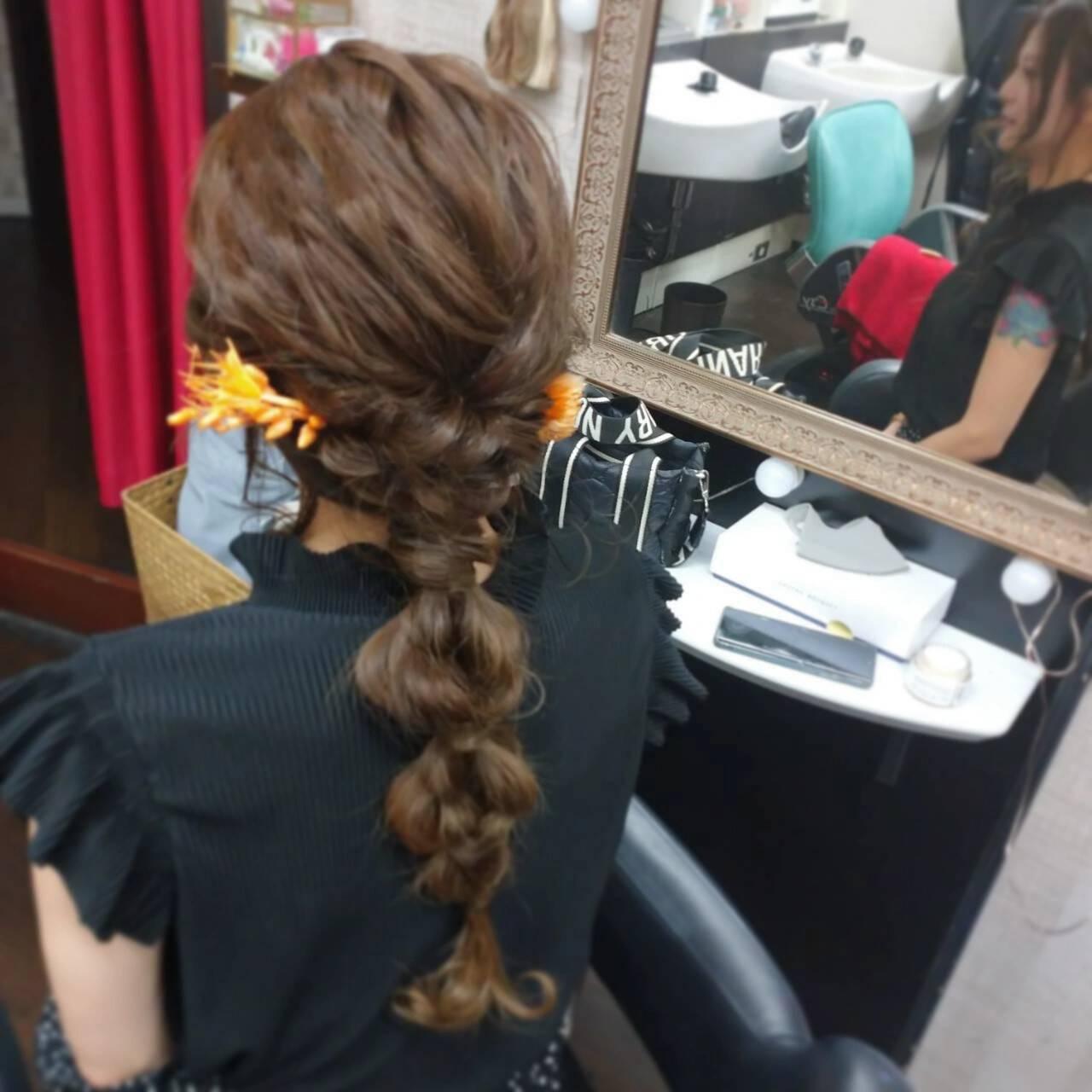 ナチュラル ヘアアレンジ ロング 簡単ヘアアレンジヘアスタイルや髪型の写真・画像