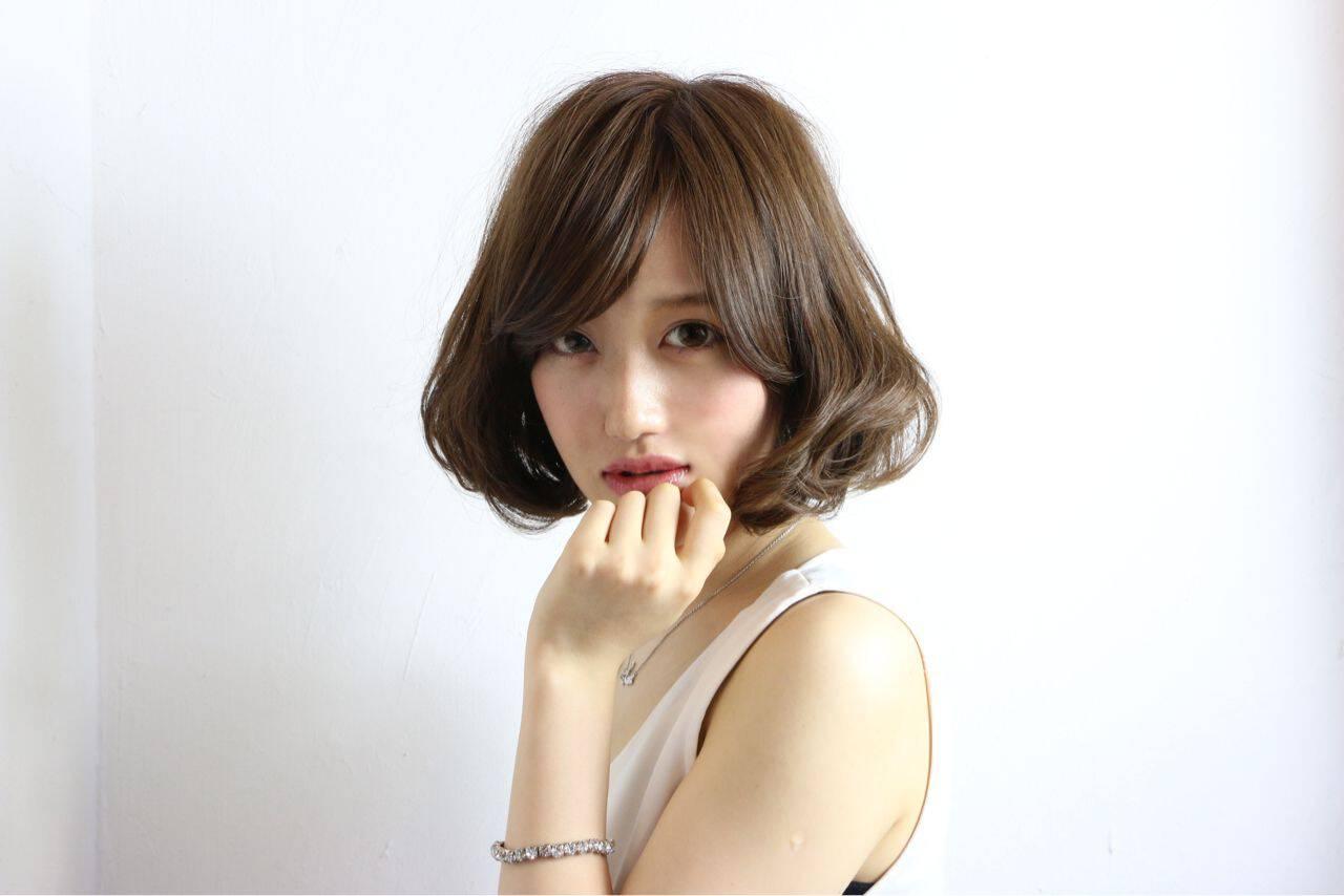 モテ髪 大人かわいい フェミニン ナチュラルヘアスタイルや髪型の写真・画像