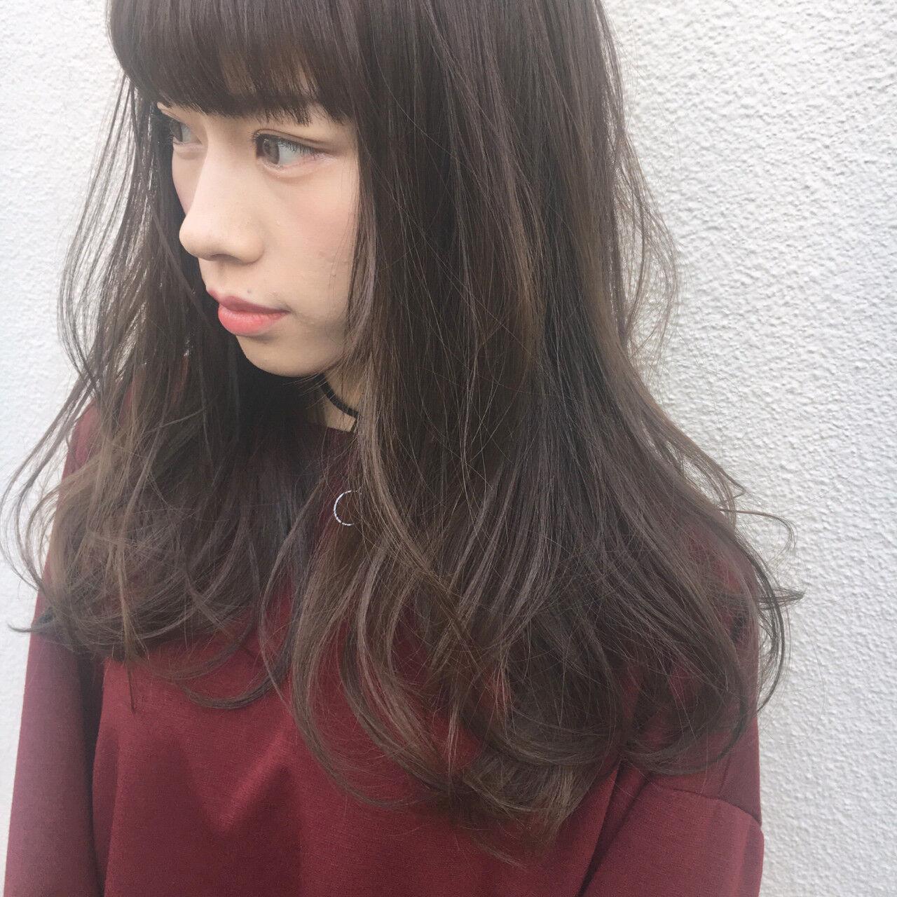 外国人風 外国人風カラー ナチュラル 暗髪ヘアスタイルや髪型の写真・画像