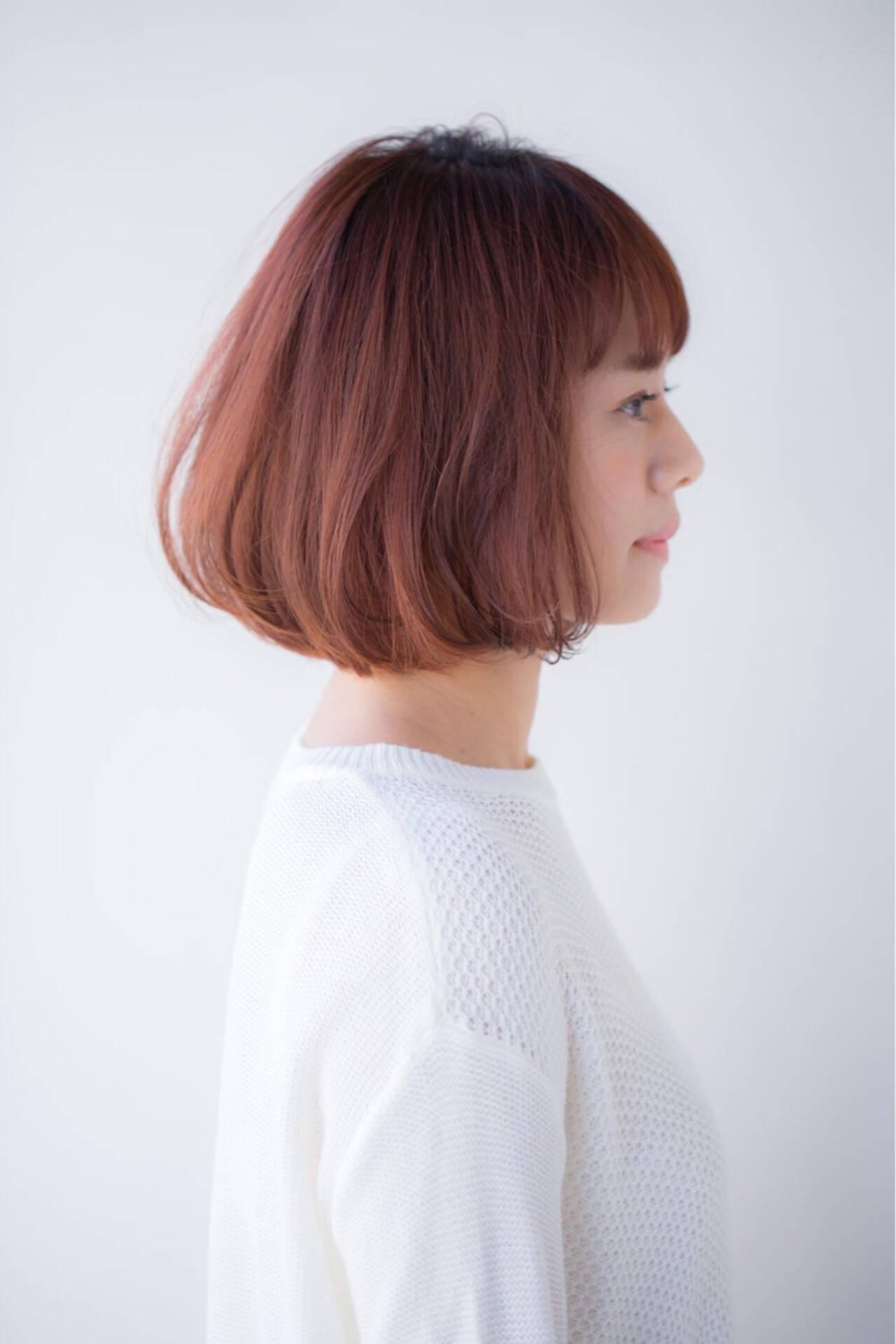 ショート 色気 ボブ ナチュラルヘアスタイルや髪型の写真・画像