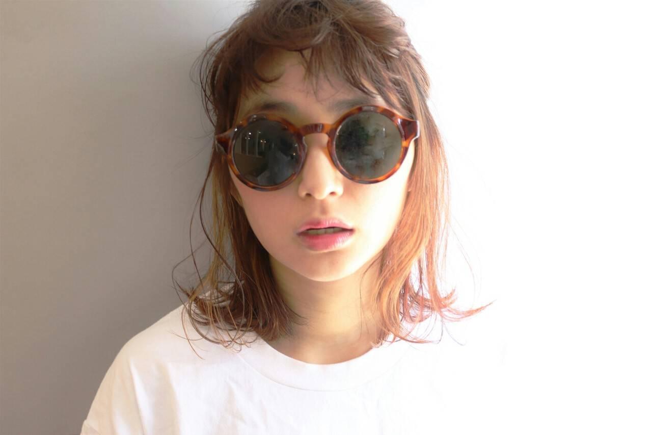 ショート ミディアム 外国人風 簡単ヘアアレンジヘアスタイルや髪型の写真・画像