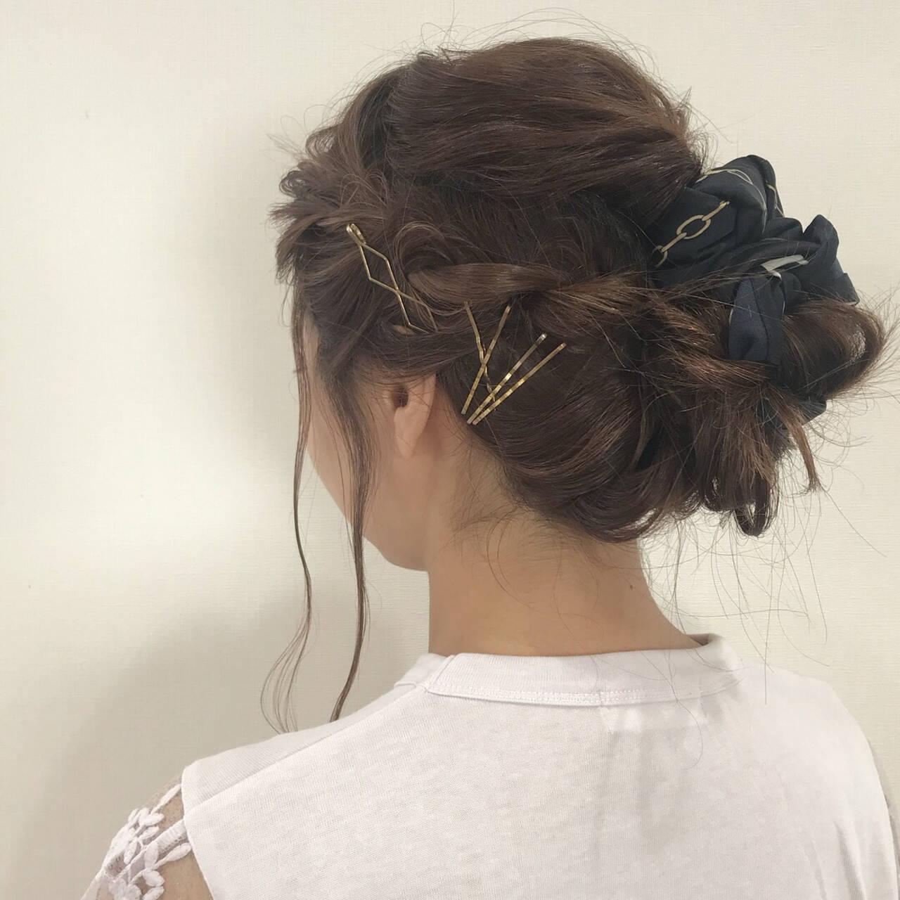 ヘアアレンジ 簡単ヘアアレンジ 三つ編み デートヘアスタイルや髪型の写真・画像