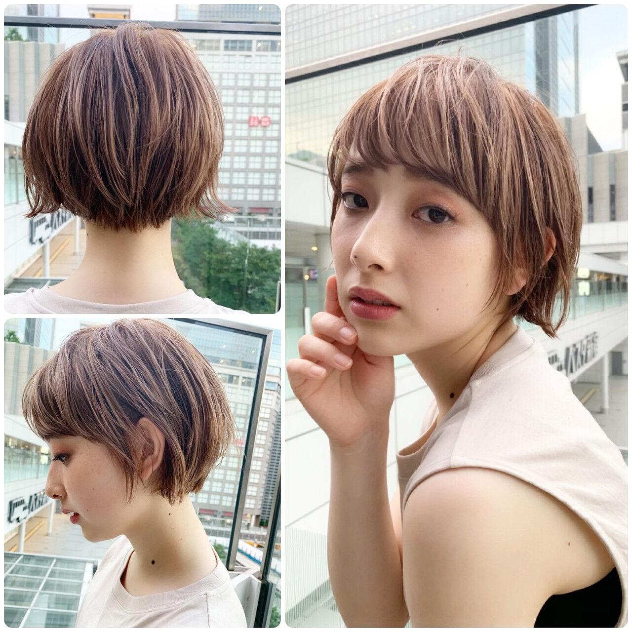 PEEK-A-BOO ハンサムショート ショート ナチュラルヘアスタイルや髪型の写真・画像