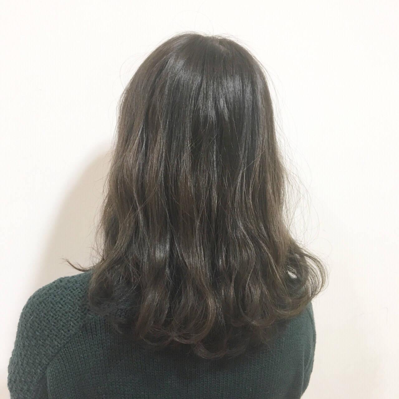 グラデーションカラー 外国人風 ストリート セミロングヘアスタイルや髪型の写真・画像