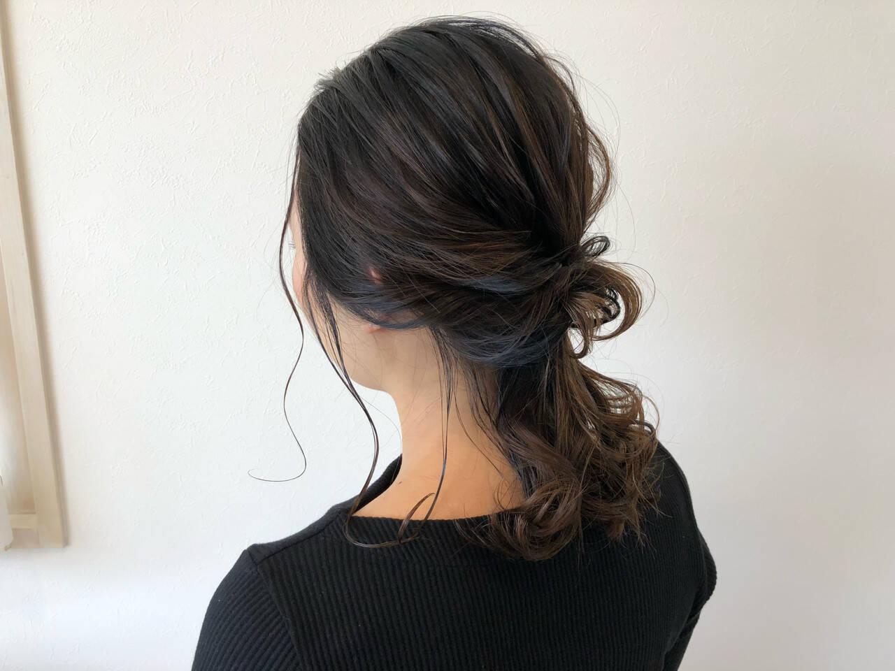 簡単ヘアアレンジ ヘアアレンジ 抜け感 外国人風ヘアスタイルや髪型の写真・画像
