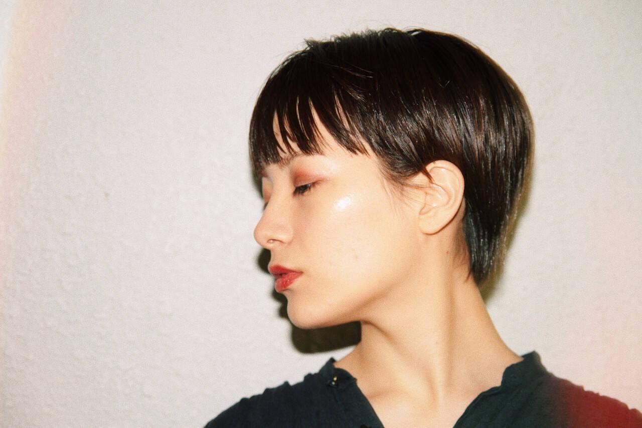 ベリーショート マッシュショート ショート モードヘアスタイルや髪型の写真・画像