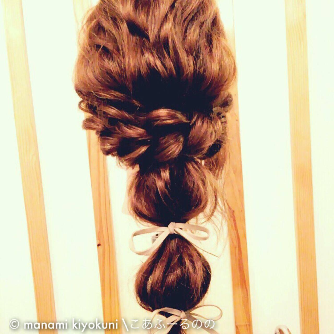 ロング ヘアアレンジ 三つ編み 大人かわいいヘアスタイルや髪型の写真・画像