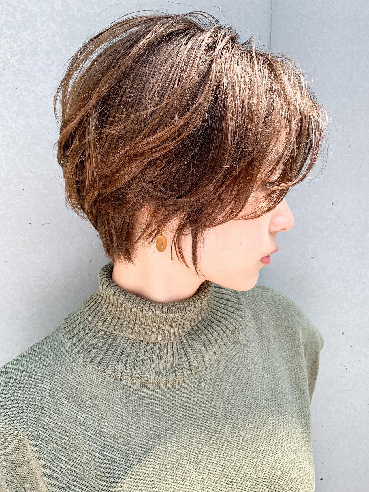 ショート ナチュラル ハンサムショート ショートヘアヘアスタイルや髪型の写真・画像