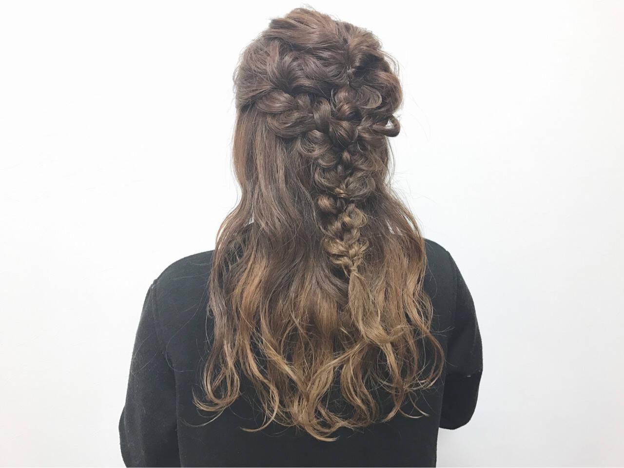 女子会 結婚式 ヘアアレンジ ロングヘアスタイルや髪型の写真・画像