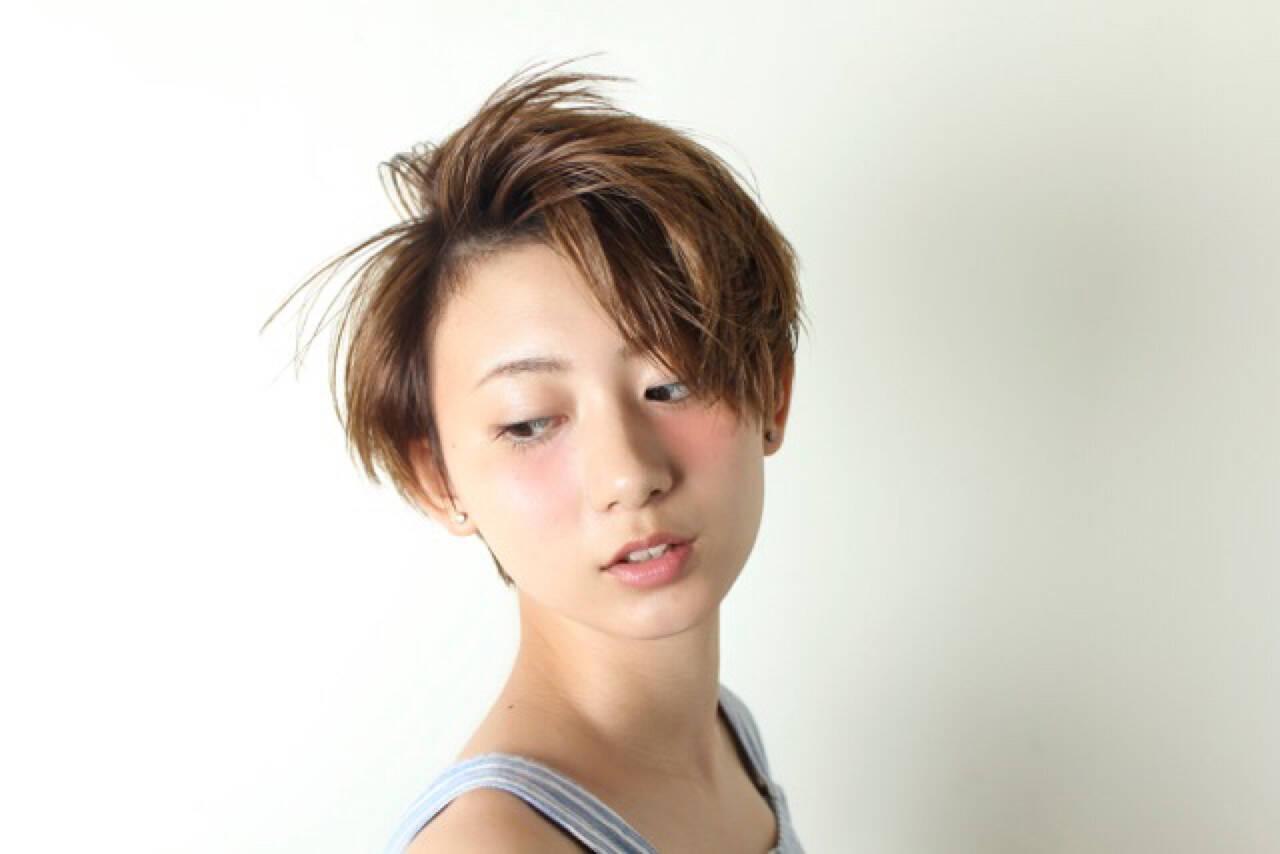 ショート モード 外国人風ヘアスタイルや髪型の写真・画像