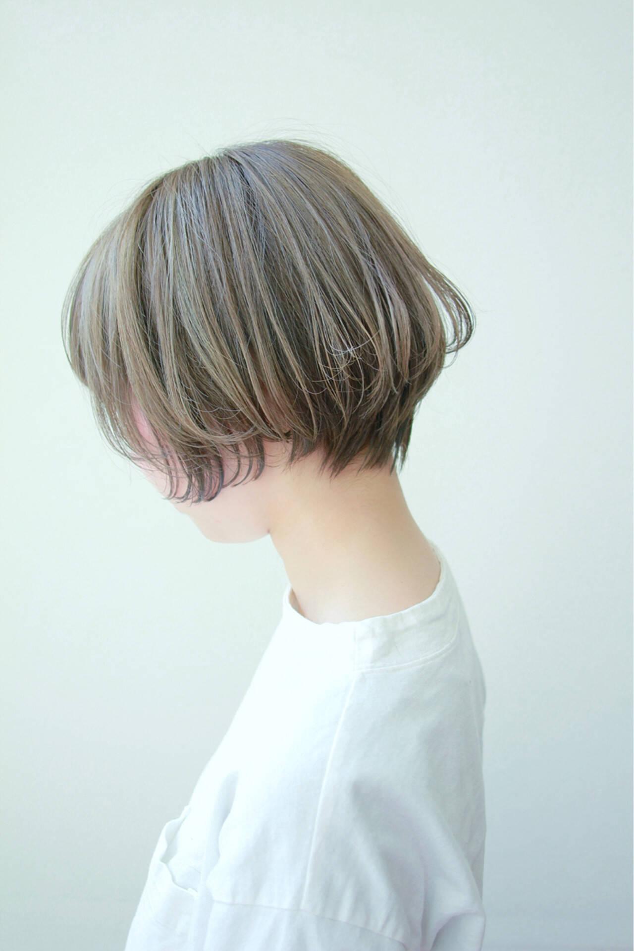 ラベンダーアッシュ ショートボブ ショート スポーツヘアスタイルや髪型の写真・画像
