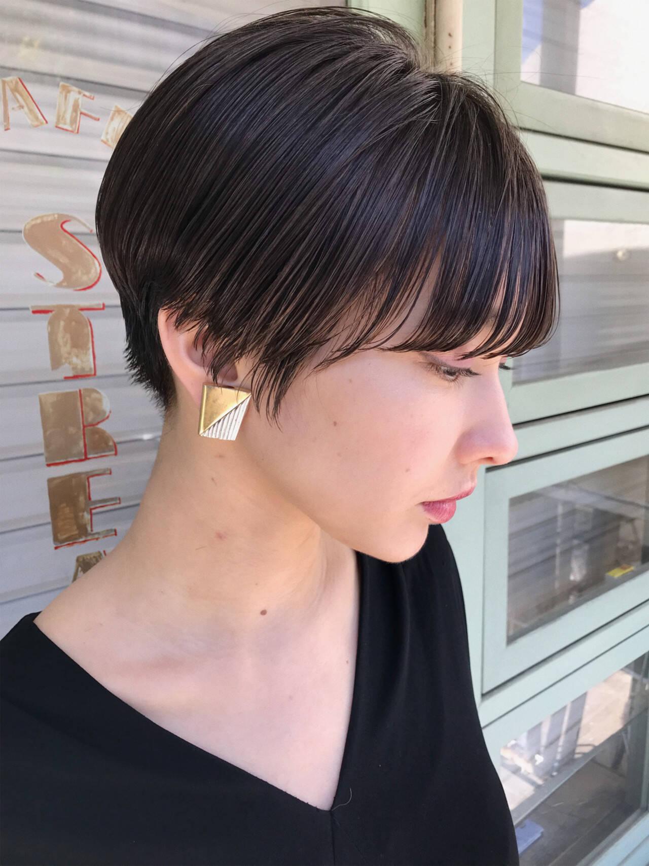 大人かわいい モード 刈り上げ ショートヘアスタイルや髪型の写真・画像