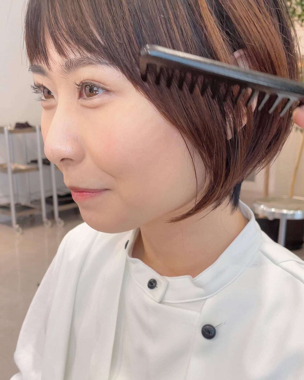 ショートボブ ミニボブ ナチュラル ベリーショートヘアスタイルや髪型の写真・画像