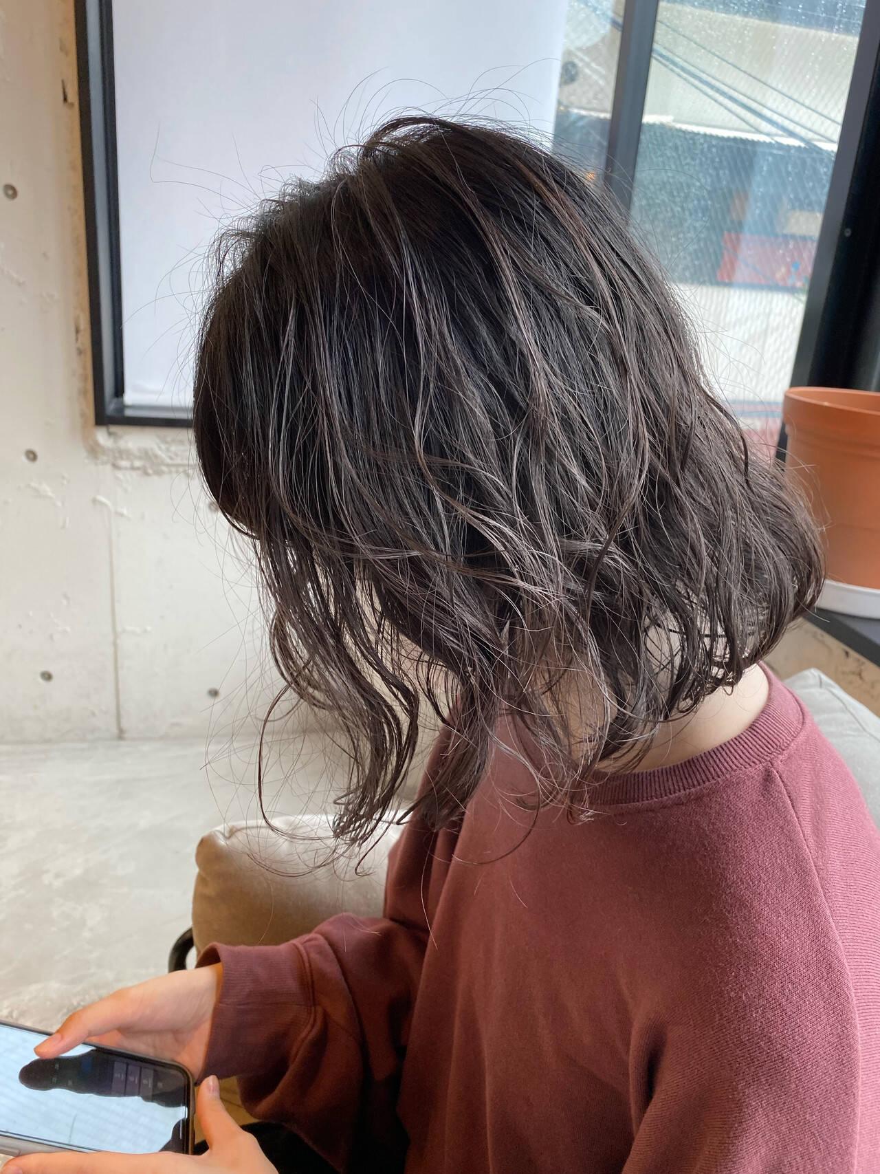 ベージュ オリーブベージュ グレージュ アッシュベージュヘアスタイルや髪型の写真・画像