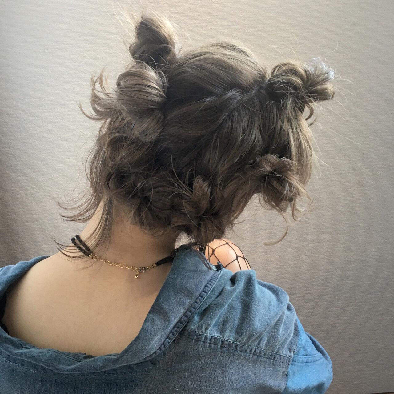 フェミニン ボブ ヘアアレンジ 夏ヘアスタイルや髪型の写真・画像