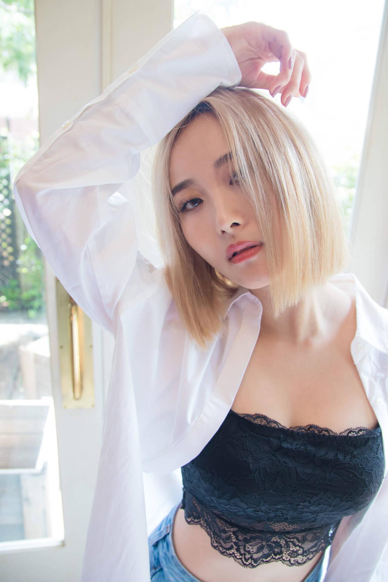 ボブ クール フェミニン 外国人風ヘアスタイルや髪型の写真・画像