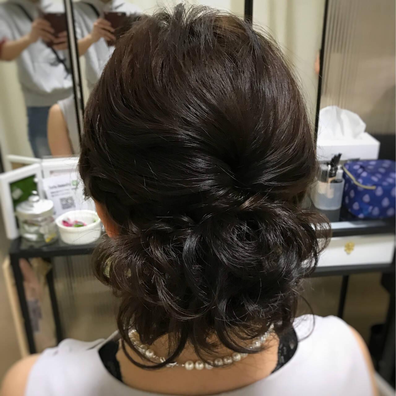 編み込み ふわふわ ヘアアレンジ 結婚式ヘアスタイルや髪型の写真・画像