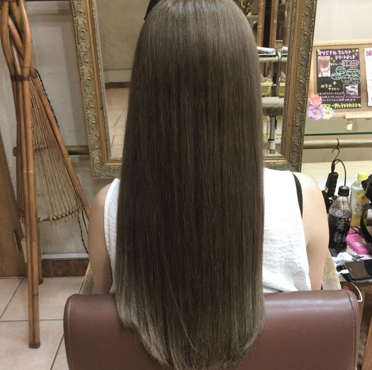 外国人風 ハイライト グラデーションカラー ガーリーヘアスタイルや髪型の写真・画像