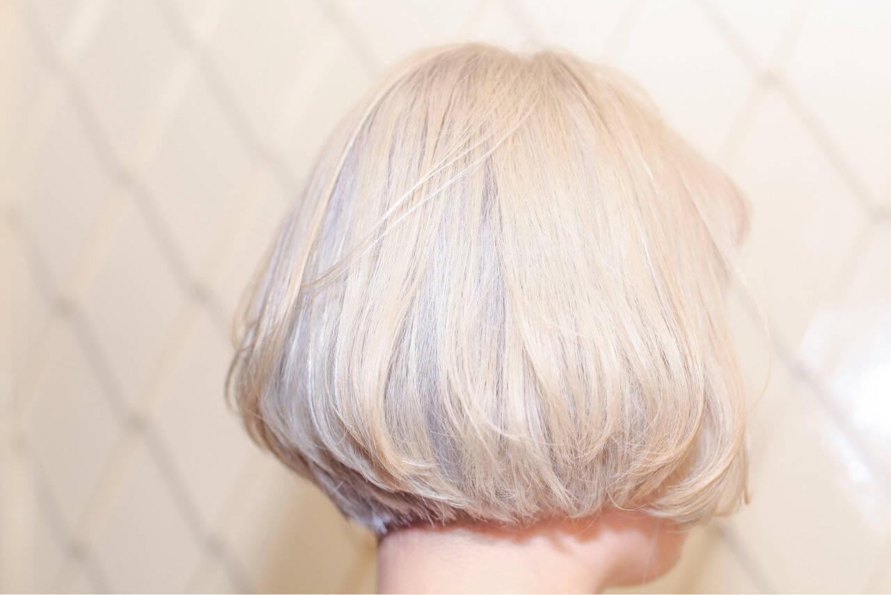 外国人風 ボブ ストリート 切りっぱなしヘアスタイルや髪型の写真・画像