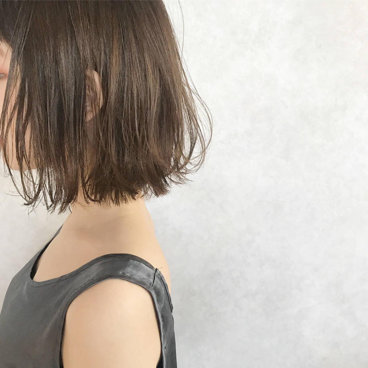 ナチュラル ボブ 大人かわいい 透明感ヘアスタイルや髪型の写真・画像