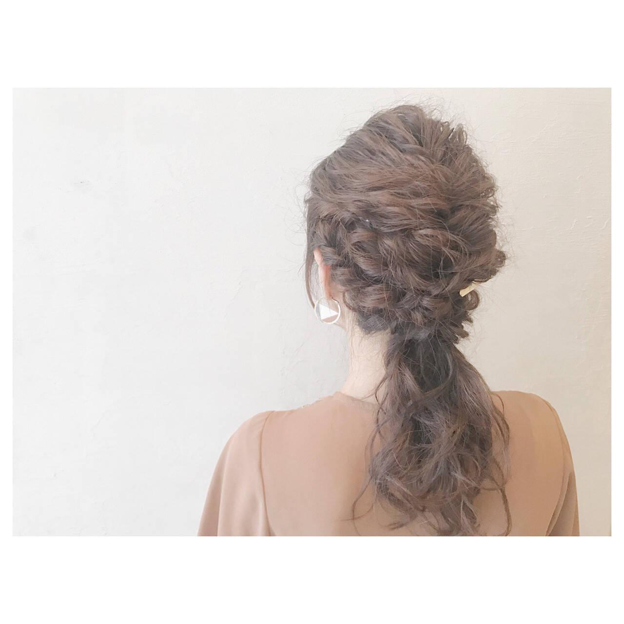 結婚式 ヘアアレンジ 女子会 デートヘアスタイルや髪型の写真・画像