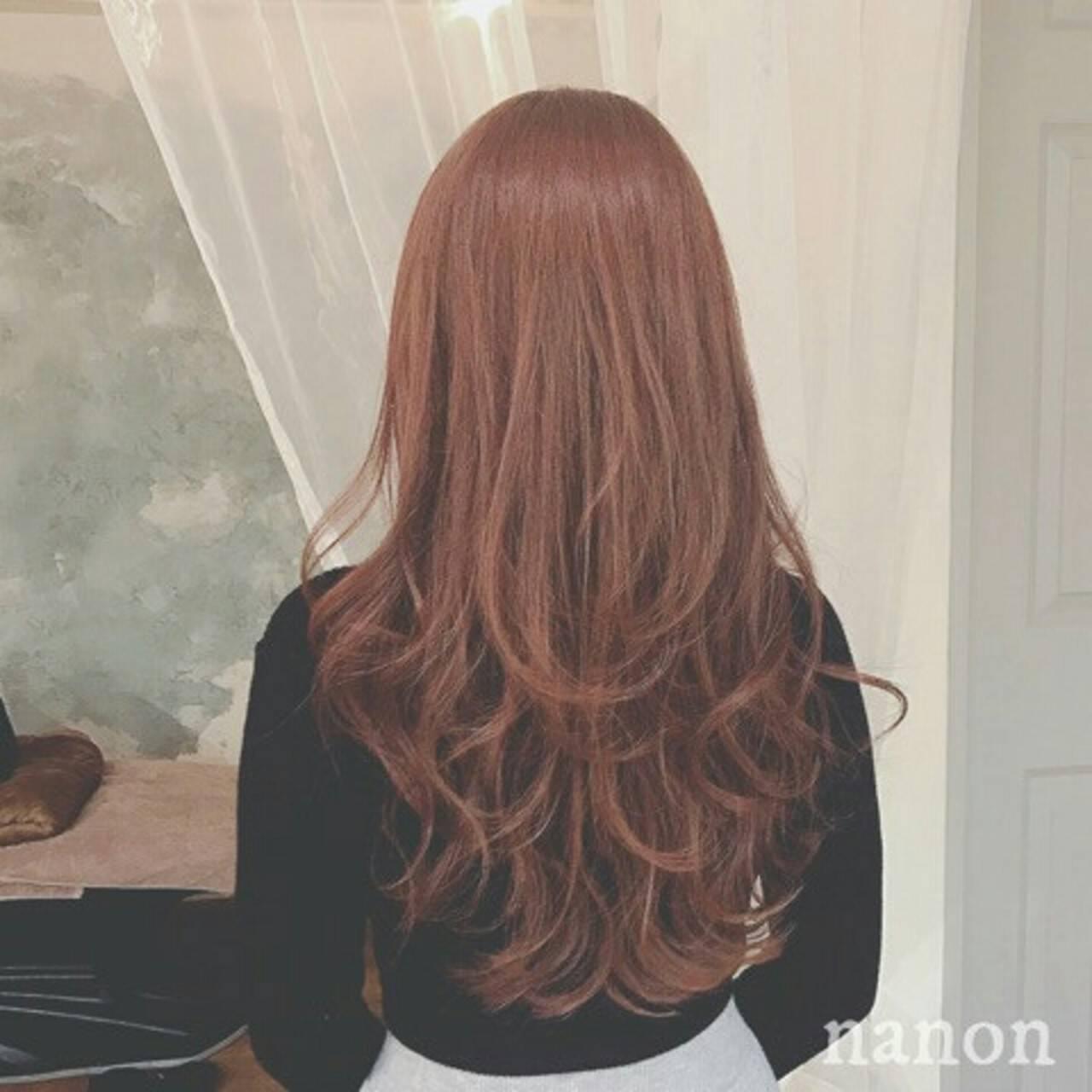 ウェーブ 上品 アンニュイ ハイライトヘアスタイルや髪型の写真・画像