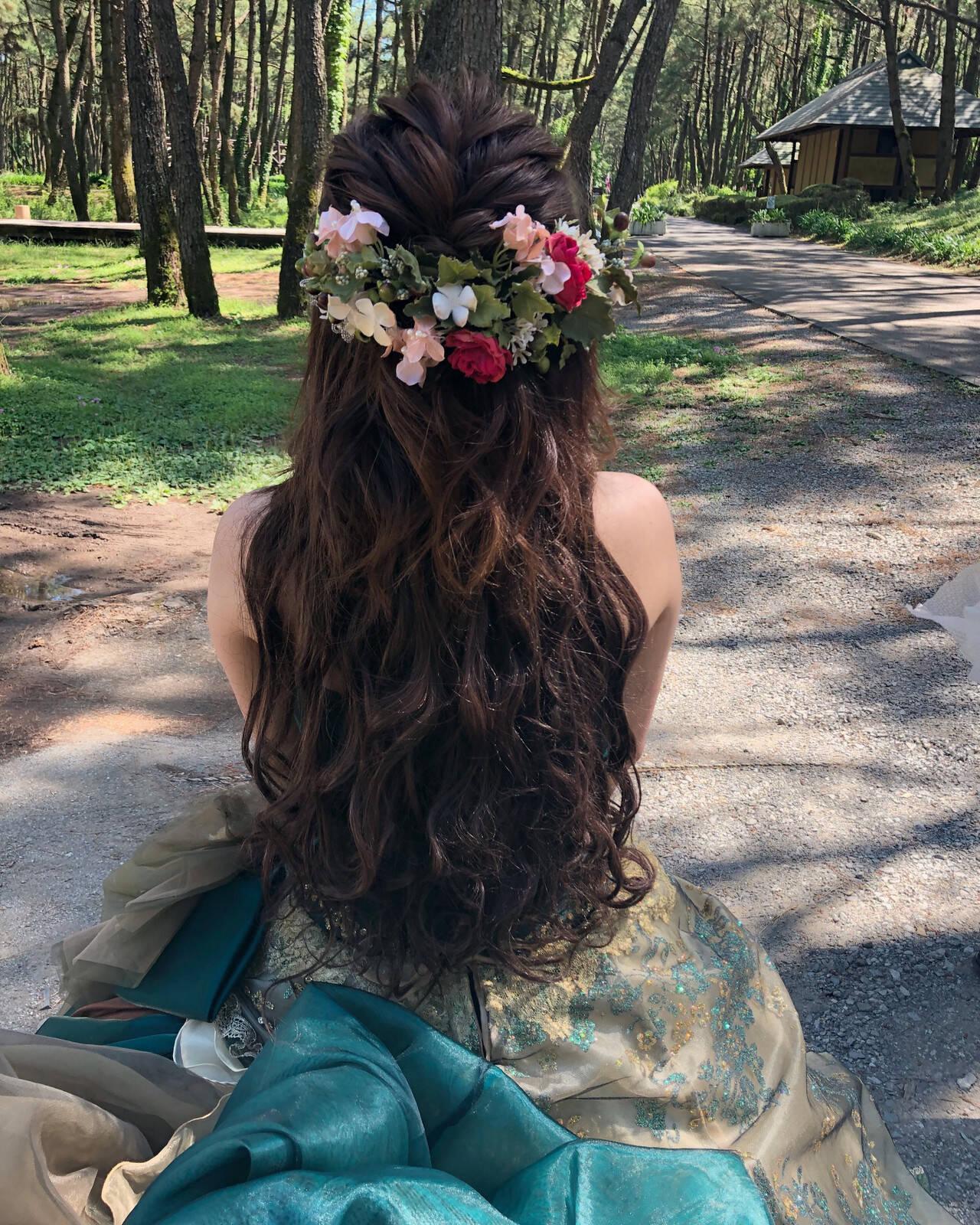結婚式 フェミニン ボブ ヘアアレンジヘアスタイルや髪型の写真・画像