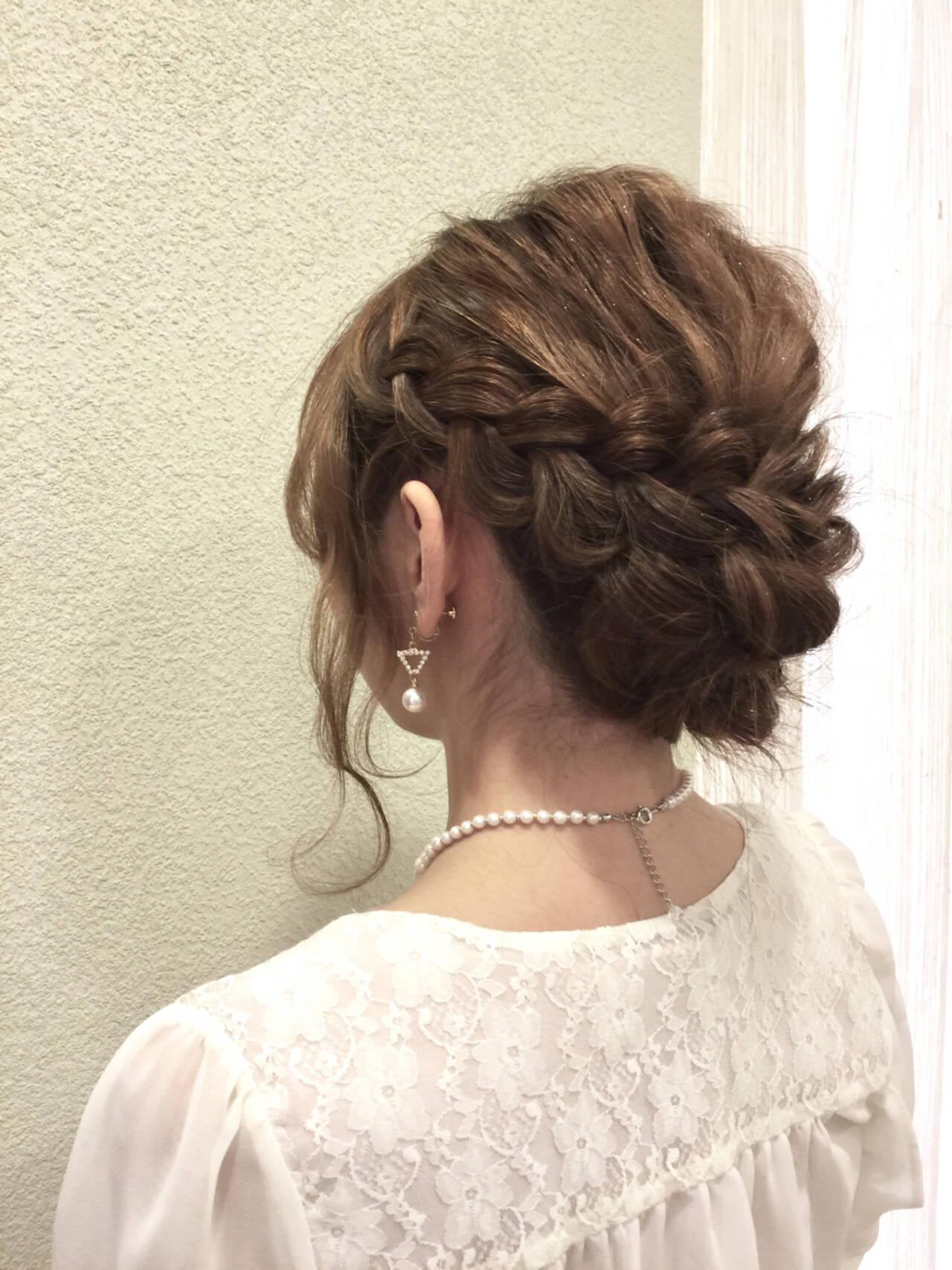 ヘアアレンジ 大人女子 セミロング 外国人風ヘアスタイルや髪型の写真・画像