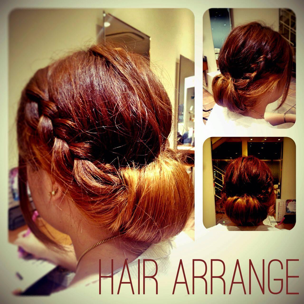 ヘアアレンジ 簡単ヘアアレンジ ショート 編み込みヘアスタイルや髪型の写真・画像