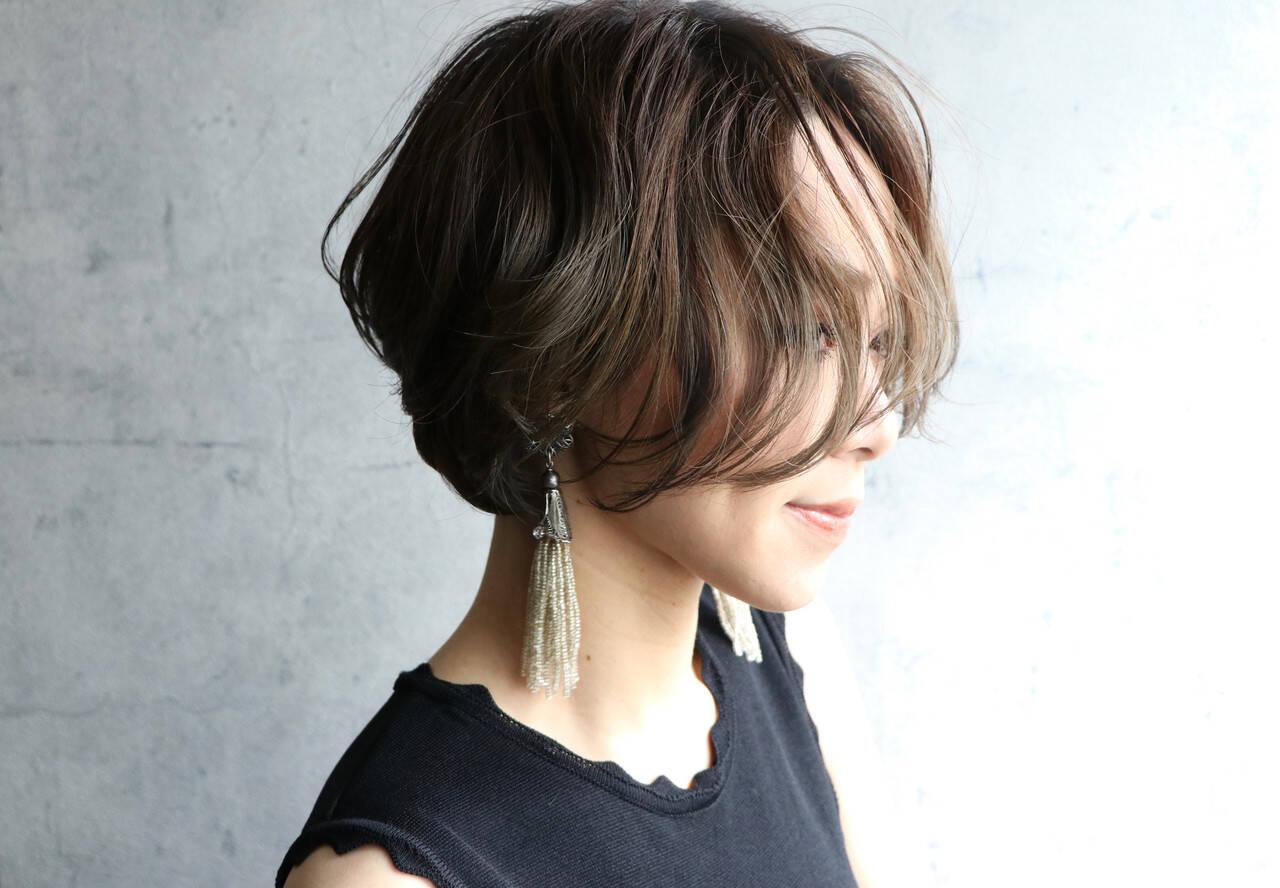 濡れ髪スタイル ナチュラル ヘアメイク ハンサムショートヘアスタイルや髪型の写真・画像