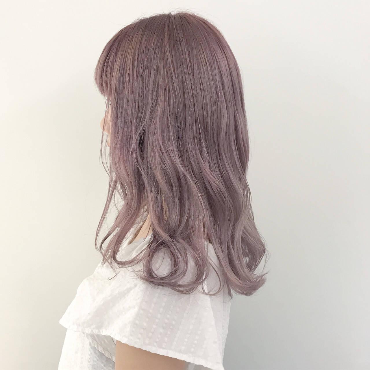 ハロウィン ラベンダーアッシュ ガーリー ラベンダーピンクヘアスタイルや髪型の写真・画像