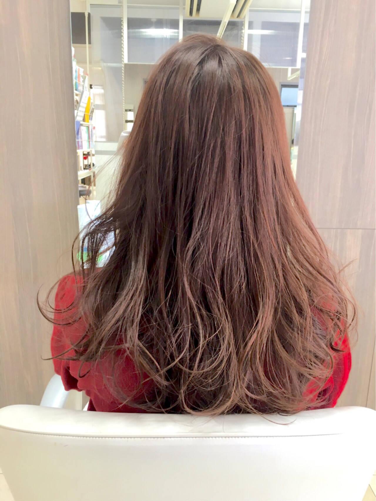 アプリコット ベージュ ナチュラル ブラウンヘアスタイルや髪型の写真・画像
