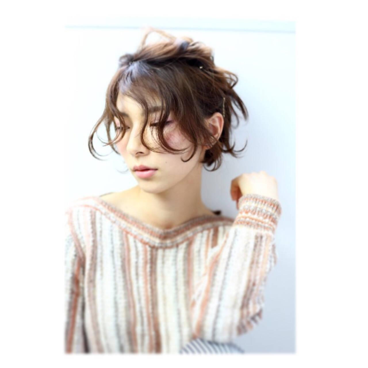抜け感 ボブ パーマ モードヘアスタイルや髪型の写真・画像