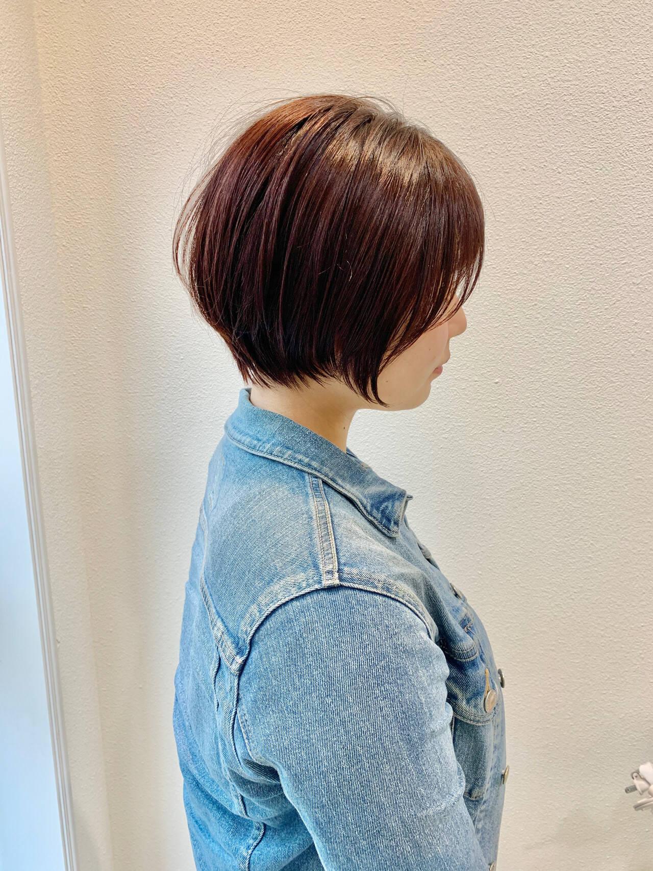 ベリーショート ショートヘア ショートボブ ガーリーヘアスタイルや髪型の写真・画像