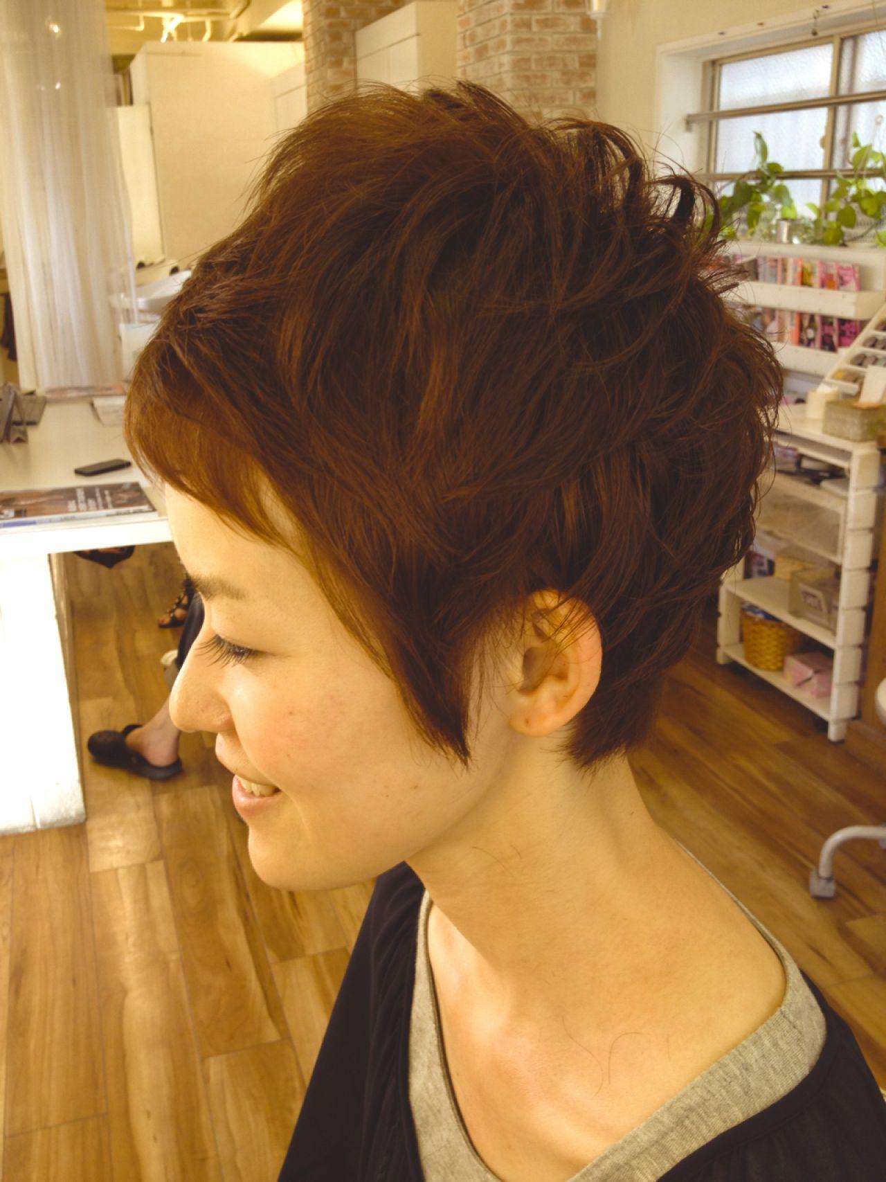ショート ストリートヘアスタイルや髪型の写真・画像