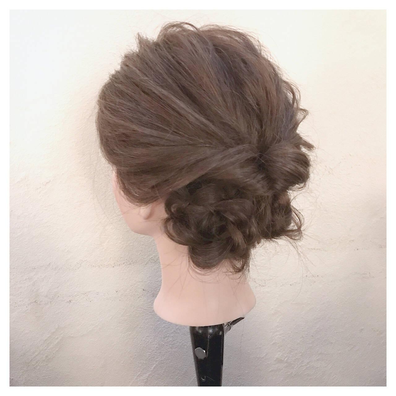 簡単ヘアアレンジ ヘアアレンジ ショート 大人女子ヘアスタイルや髪型の写真・画像