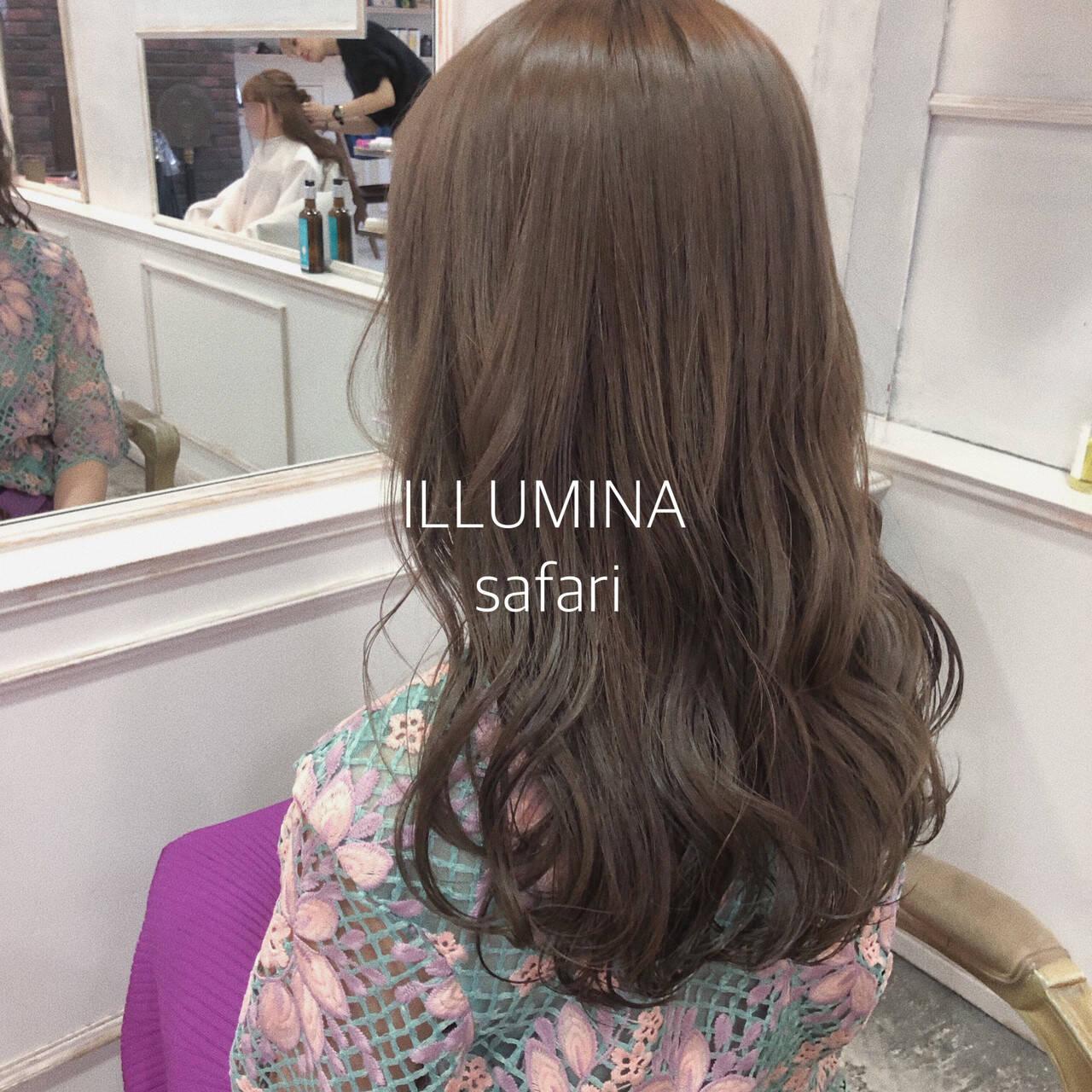ヘアアレンジ ヘアカラー ミルクティーベージュ グレージュヘアスタイルや髪型の写真・画像