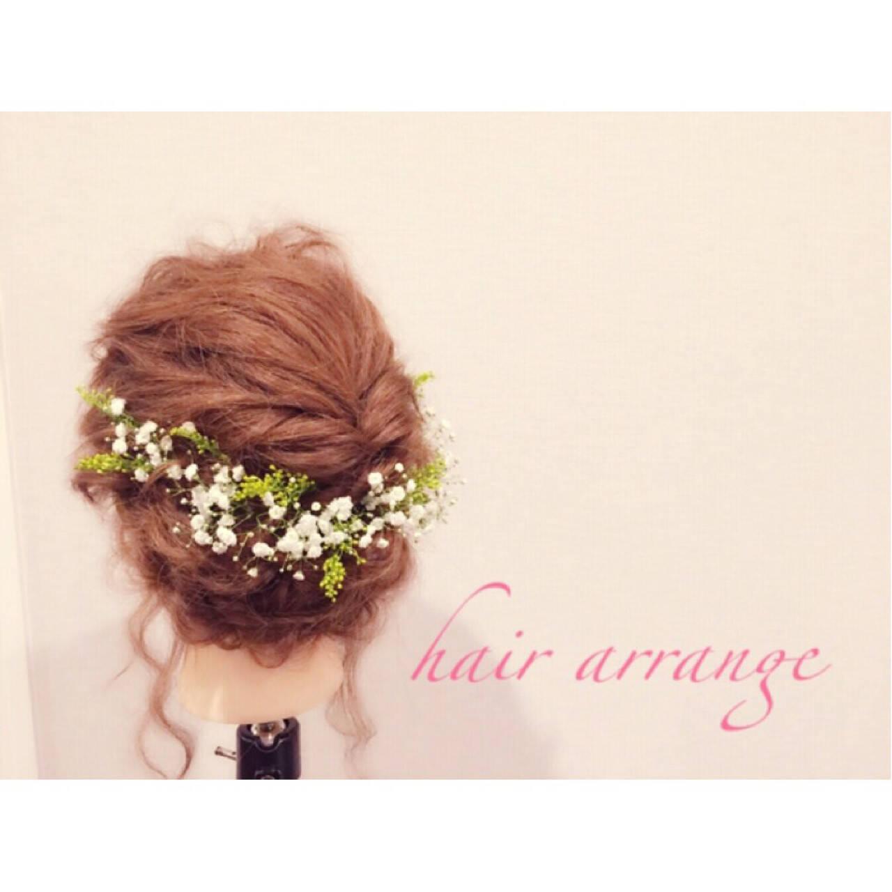 ヘアアレンジ 愛され モテ髪 セミロングヘアスタイルや髪型の写真・画像