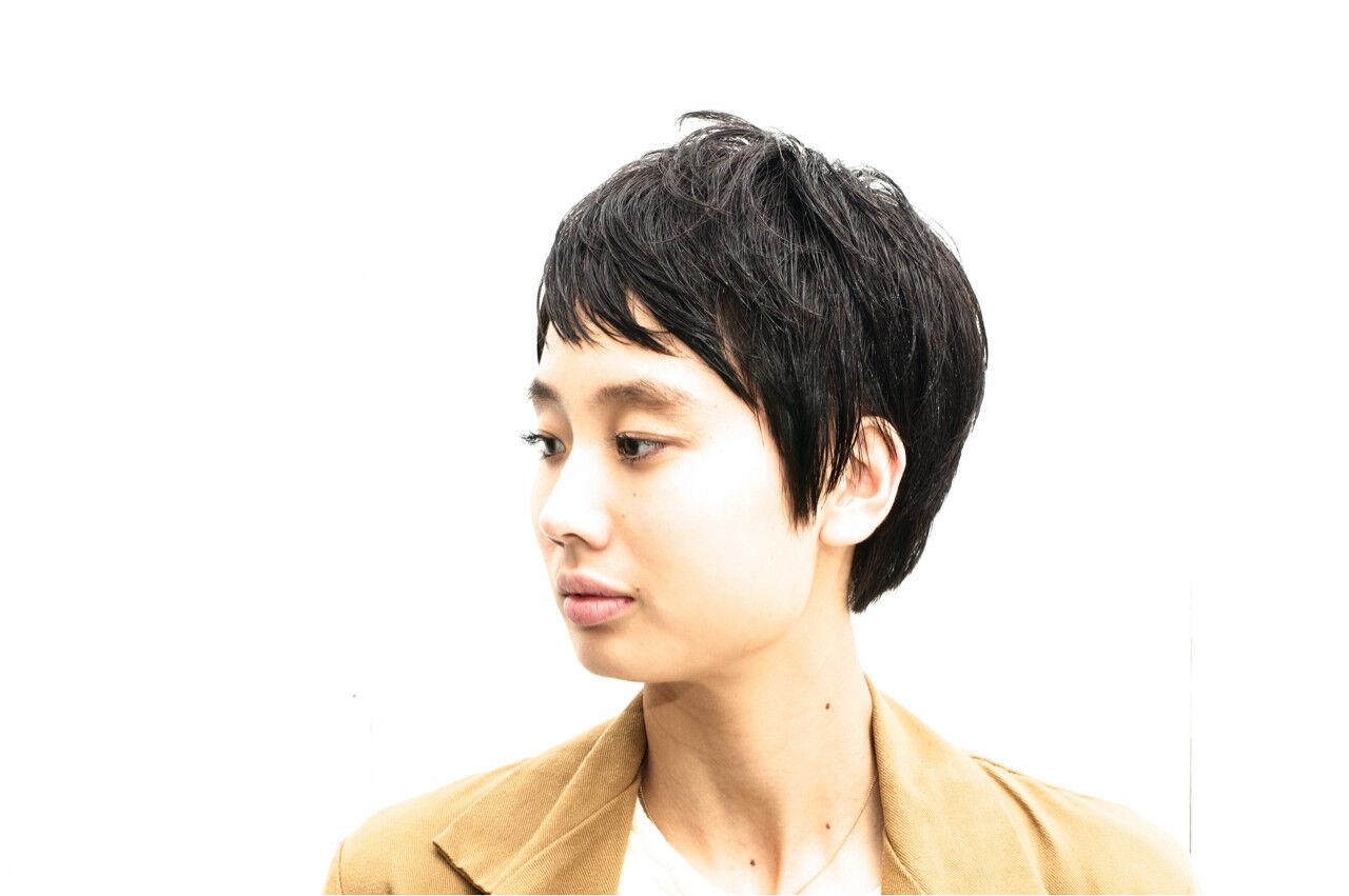 ストリート 黒髪 ベリーショート ショートヘアスタイルや髪型の写真・画像